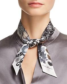 Salvatore Ferragamo - Floral Print Silk Skinny Scarf