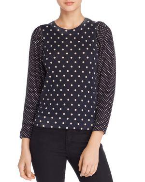 Rebecca Taylor Dot-Print Sweater