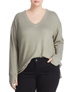 Cupio Plus - V-Neck Tunic Sweater