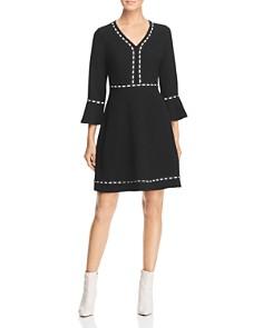 KARL LAGERFELD Paris - Lace-Trimmed A-Line Dress