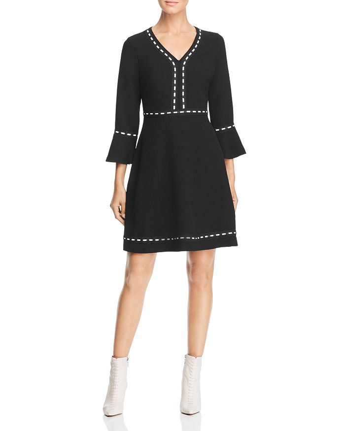 KARL LAGERFELD Paris - Lace-Trimmed A-Line Dress