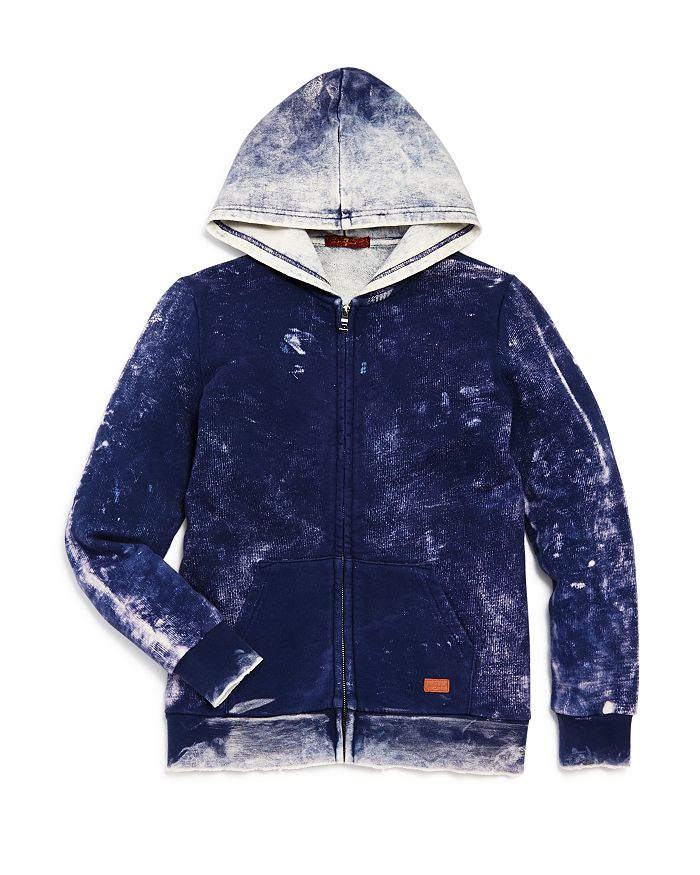 7 For All Mankind - Boys' Distressed Zip Hoodie - Little Kid