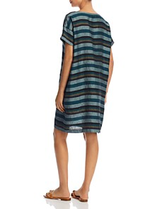 Eileen Fisher - Stripe Linen Shift Dress