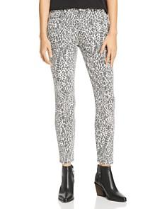 FRAME - Le High Animal Print Skinny Jeans in Noir Multi