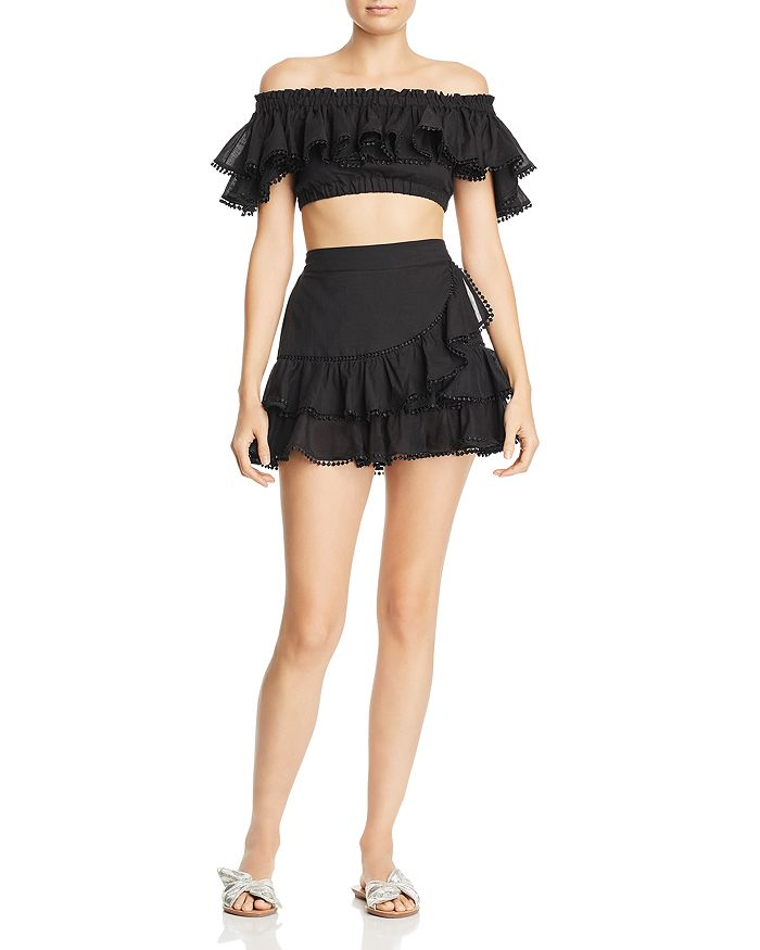 2d0ea01a68e951 Charo Ruiz Ibiza Cata Ruffled Crop Top & Fera Ruffled Mini Skirt ...