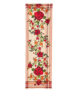 Echo - Cascade Floral Wool Oblong Scarf