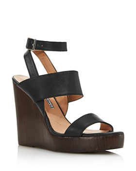 Charles David - Women's Turk 2 Leather Wedge Sandals