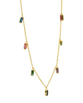 Gorjana - Amara Fringe Station Necklace, 18""