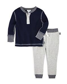 Splendid - Boys' Waffle-Knit Henley & Jogger Pants Set - Baby