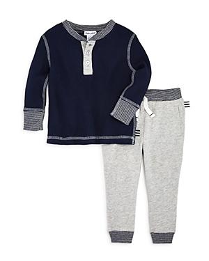 Splendid Boys' Waffle-Knit Henley & Jogger Pants Set - Baby