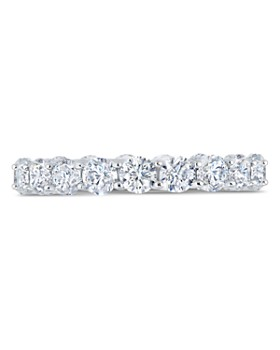Crislu - Eternity Ring in Platinum-Plated Sterling Silver