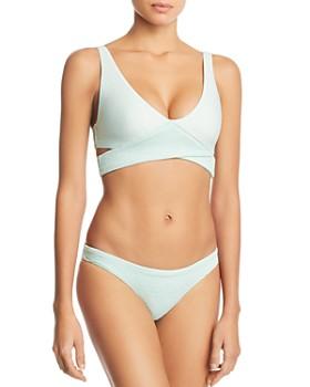 985181f122d3d PilyQ - Azura Crisscross Bikini Top & Bikini Bottom ...