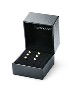 Bloomingdale's - Ball Stud Earrings Set in 14K Yellow, White & Rose Gold - 100% Exclusive