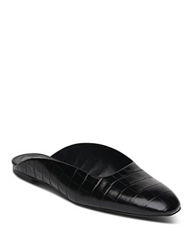 Whistles - Women's Netley Croc-Embossed Leather Mules