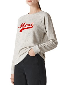 Whistles - Merci Embroidered Sweatshirt