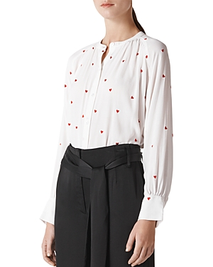 Whistles Embroidered Heart Blouse