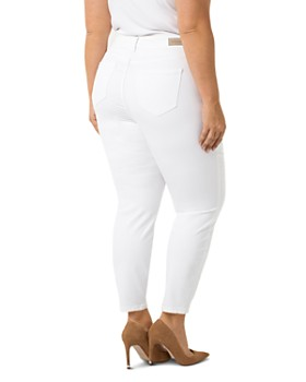 Liverpool Plus - Penny Ankle Skinny Jeans in Bright White