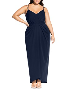 City Chic Plus - Luciana Pleated Gown
