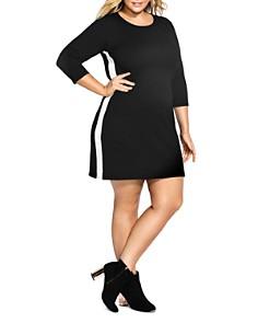 City Chic Plus - Varsity Stripe Tunic