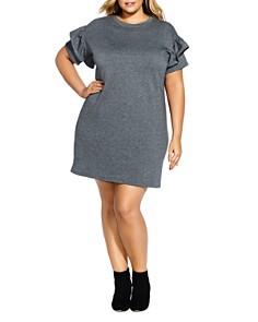 City Chic Plus - Ruffle Sleeve Tunic