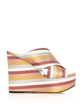 Sergio Rossi - Women's Alma Crisscross Platform Wedge Sandals