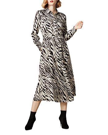 KAREN MILLEN - Zebra Print Shirt Dress