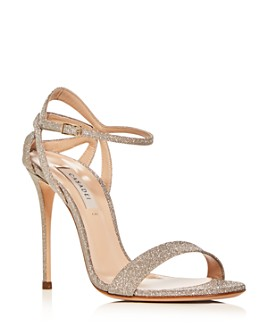 Casadei - Women's Glitter Ankle-Strap High-Heel Sandals