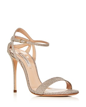 Casadei - Women's Glitter Ankle-Strap High-Heel Sandals