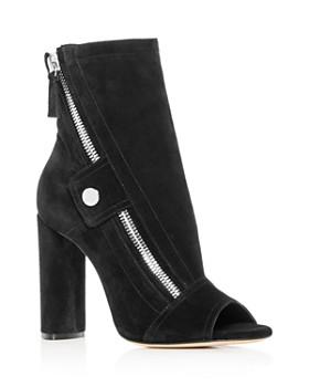 Casadei - Women's Zip Open-Toe High-Heel Booties