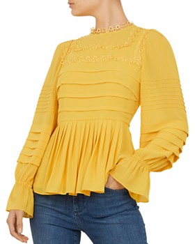 cddf1bd404b670 Ted Baker - Roobee Lace-Trimmed Pintucked Top ...