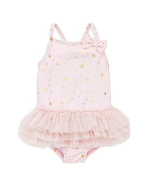 Little Me Girls' Glitzy Star Swimsuit - Baby