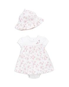 Little Me - Girls' Butterfly Popover & Sun Hat Set - Baby