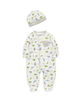 Little Me - Boys' Tiny Dinosaurs Footie & Cap Set - Baby