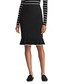 Ralph Lauren - Tipped Ruffle Skirt