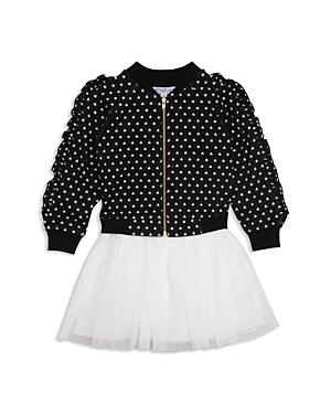 Pippa  Julie Girls Ruffled Star Bomber Jacket  Tutu Dress Set  Little Kid