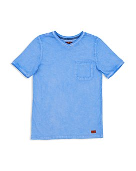 7 For All Mankind - Boys' Mineral-Washed V-Neck Tee - Big Kid