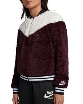 Nike - Color-Block Fleece Bomber Jacket