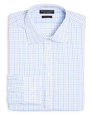 The Men's Store at Bloomingdale's - Contrast Check Regular Fit Dress Shirt - 100% Exclusive