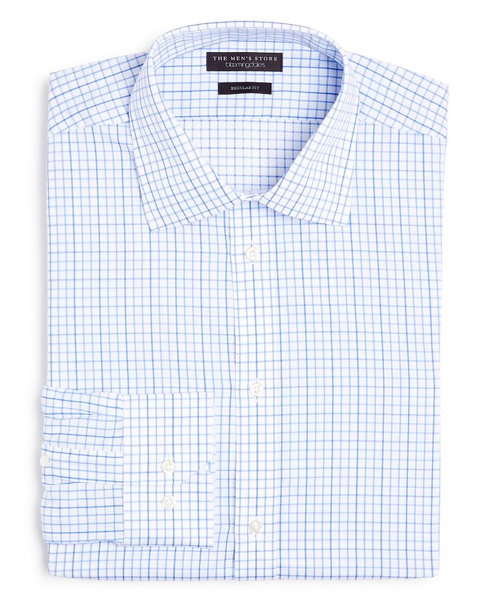 647c9712ff The Men s Store at Bloomingdale s - Contrast Check Regular Fit Dress Shirt  - 100% Exclusive