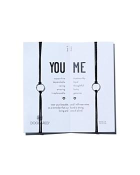 Dogeared - You & Me Friendship Bracelets, Set of 2