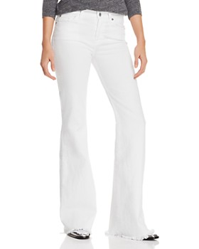 7 For All Mankind - Ginger Flare Jeans in White Fashion - 100% Exclusive ... 0677a53858c
