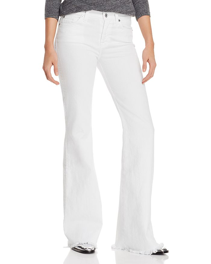 7 For All Mankind - Ginger Flare Jeans in White Fashion - 100% Exclusive