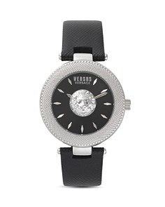 Versus Versace - Brick Lane Black Leather Strap Watch, 40mm