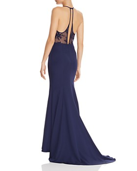 Jarlo - Carlin Lace-Back Gown