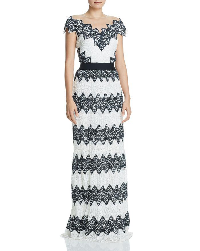 Tadashi Shoji - Pleated Lace Gown