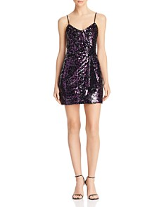 Parker - Joanie Sequined Draped Mini Dress