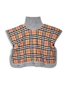 Burberry - Girls' Beatrix Reversible Wool Cape - Big Kid