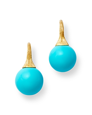 Marco Bicego 18K Yellow Gold Turquoise Drop Earrings
