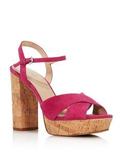 4617758fe45 VINCE CAMUTO Women s Carrelen Suede Bow Block Heel Sandals ...