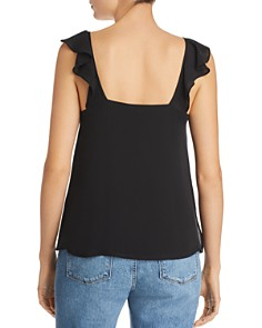 CAMI NYC - Neda Ruffled V-Neck Silk Tank Top